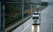 Ciężarówka Scania dostosowana do pantografu zaprojektowanego przez firmę Siemens