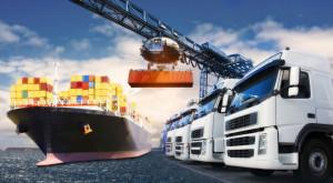 Transport mit LKW und Schiff
